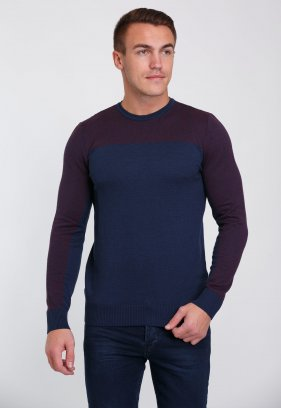 Свитер Trend Collection 0259 Темно-синий+бордовый ромб