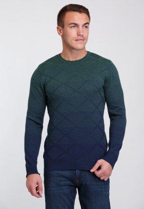 Свитер Trend Collection 0260 Зеленый+синий полоска