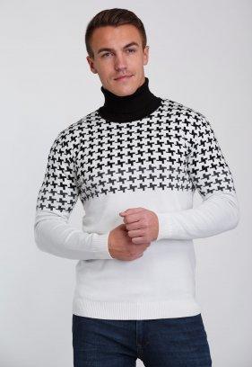 Гольф Trend Collection 7145 Белый+черный пазл