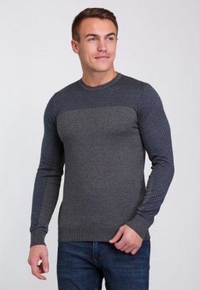 Свитер Trend Collection 0259 Серый+синий ромб