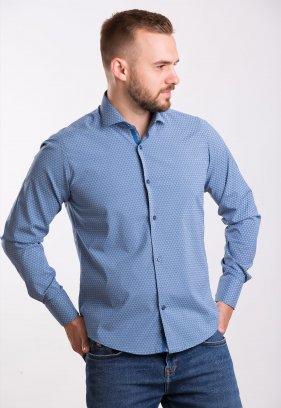 Рубашка Trend Collection 02-1061 Индиго+треугольник