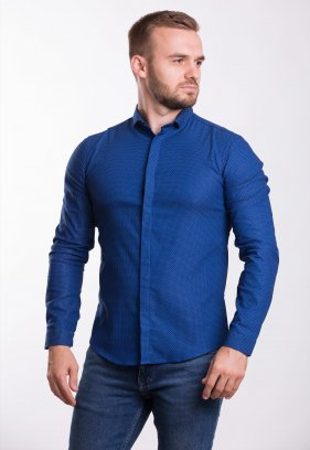 Рубашка Trend Collection 19132 Синий+белая точка