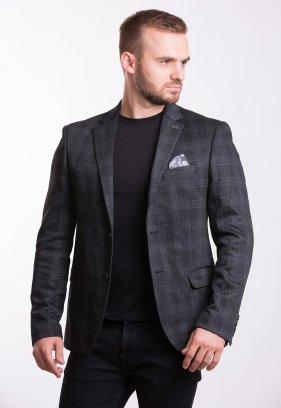 Пиджак Trend Collection TJK-012 Черный+серая клетка