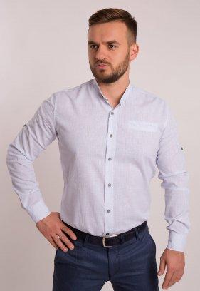 Рубашка TREND Белый + небесный принт 1607