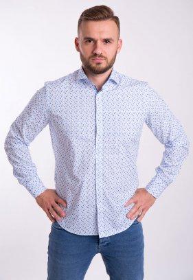 Рубашка TREND Белый + небесный ромб 02-1052