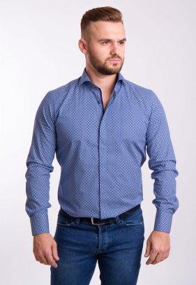 Рубашка TREND Синий + круг 02-1056