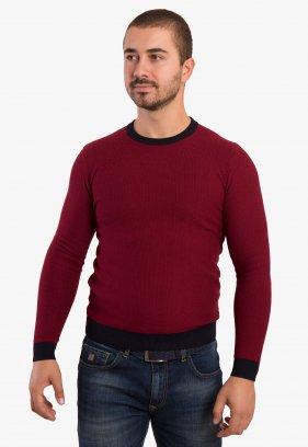 Бордовый свитер Trend