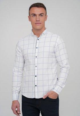 Рубашка Trend Collection 10757 Белый+синяя клетка (V03)