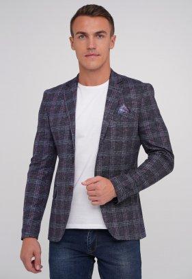 Пиджак Trend Collection 6364 фиолетовый+клетка