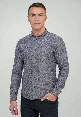 Рубашка Trend Collection 10749 Серый+синий (V04)