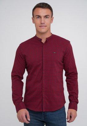 Рубашка Trend Collection 3962 Красный+синяя клетка (V02)