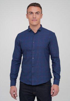 Рубашка Trend Collection 10757 Синий+красная клетка (V01)
