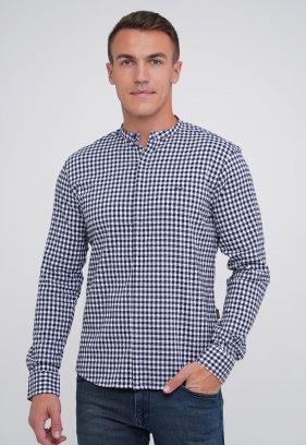 Рубашка Trend Collection 3962 Белый + синяя клетка (V03)