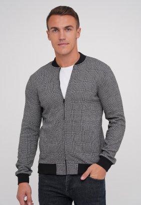 Кофта Trend Collection 916 серый + клетка