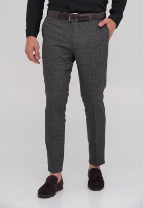 Брюки Trend Collection 1023 серый + клетка (№1)