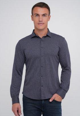 Рубашка Trend Collection 0821 Серый+синий круг (V01)