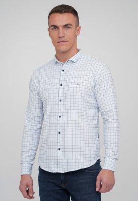 Рубашка Trend Collection 10754 Белый+синяя клетка