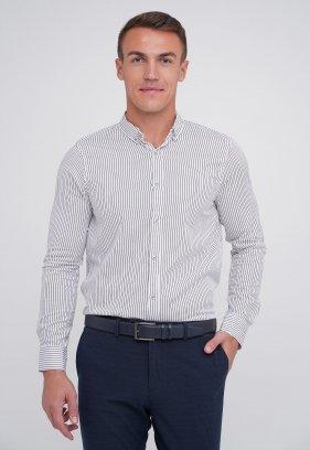 Рубашка FIGO 18279 Белый + черная полоска