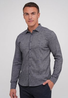 Рубашка Trend Collection 10775 Серый+буквы (03)