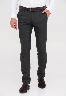 Брюки Trend Collection 4081 Темно-серый + клетка (DARK GREY)
