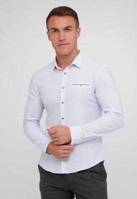 Рубашка Trend Collection 29899 Небесный+синяя галочка