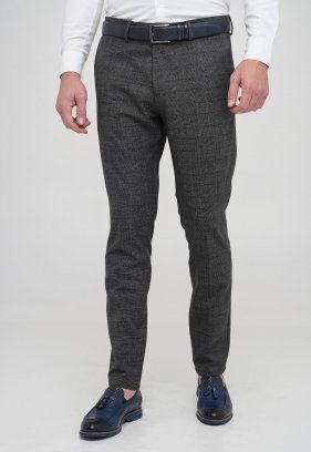 Брюки Trend Collection 1058 серый + клетка №4