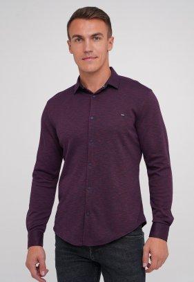 Рубашка Trend Collection 0809 бордовый+синяя клетка (V03)