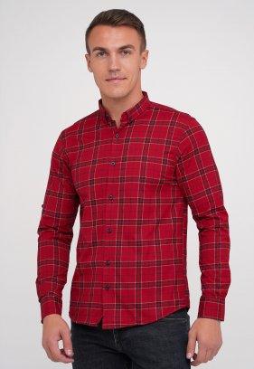 Рубашка FIGO 18271 Красный + клетка (KIRMIZI)