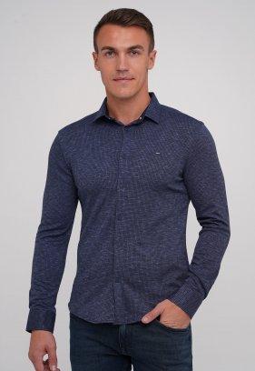 Рубашка Trend Collection 0809 синий + темно-синяя клетка (V01)