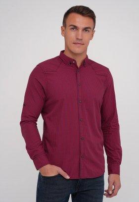 Рубашка FIGO 18213 Красный + синяя клетка (KIRMIZI)