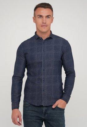 Рубашка Trend Collection 10779-2 Синий+клетка (V06)
