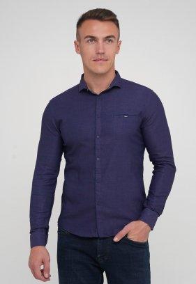 Рубашка Trend Collection 10755-2 Бордовый+синий (V01)