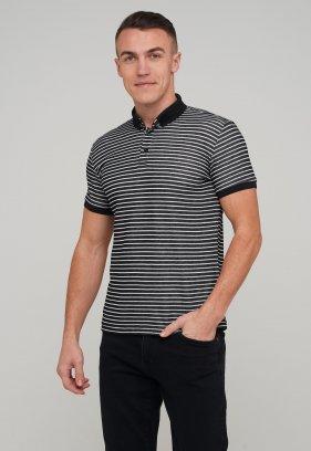 Футболка Trend Collection 8069 Черный+белая полоска