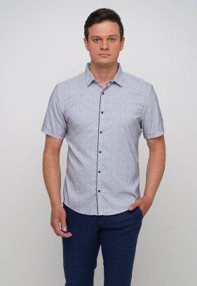 Рубашка Trend Collection 19771 Серый+небесный ромб