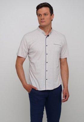 Рубашка Trend Collection 19643 Бежевый+синяя точка