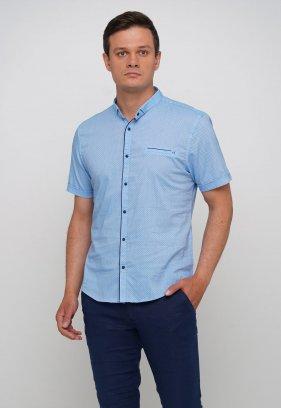 Рубашка Trend Collection 19859 Небесный+синяя точка