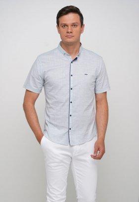 Рубашка Trend Collection 3666 Белый+небесная точка