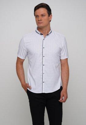 Рубашка Trend Collection 18273 Белый+синяя точка