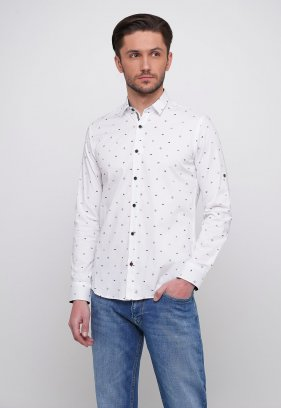 Рубашка Trend Collection 014 Белый+синий треугольник