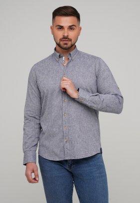 Рубашка Trend Collection 02-1001-1 Сине-серый