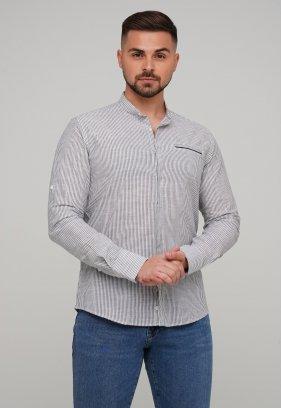Рубашка Trend Collection 02-160 Белый + Т.синяя полоска