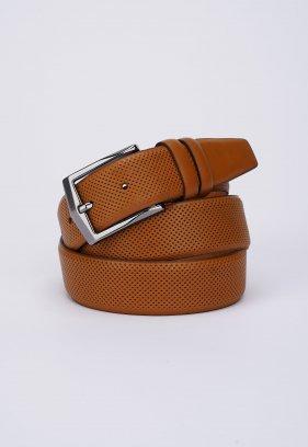 Ремень Trend Collection 1078 Светло-коричневый+перфорация