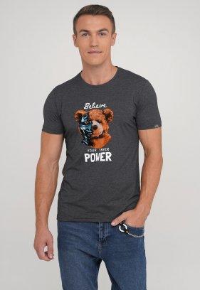 Футболка Trend Collection 39031 Антрацит+медведь