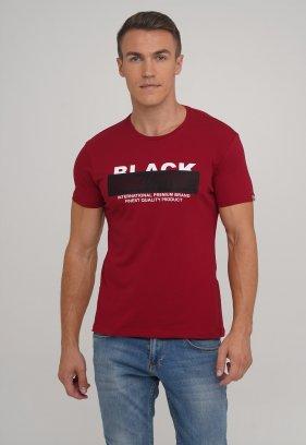 Футболка Trend Collection 39037 Бордовый+принт