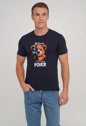 Футболка Trend Collection 39031 синий + медведь