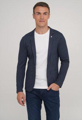 Пиджак Trend Collection 2033 синий + белая полоска