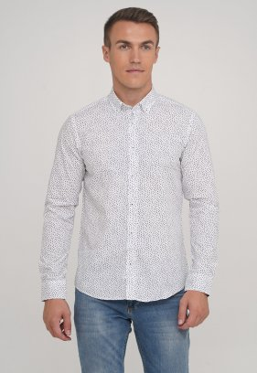 Рубашка Trend Collection 20058-04 Белый квадрат
