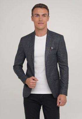 Пиджак Trend Collection 2039 серый + коричневая клетка (NAVY)