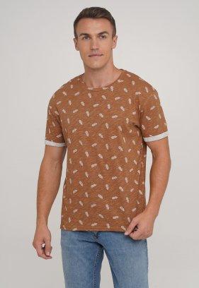 Футболка Trend Collection 2219 коричневый + ананасы