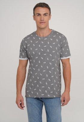 Футболка Trend Collection 2219 серый + ананас